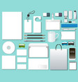 Of A Set Mock-Up Of Design Templates vector image