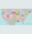 high detailed accurate usa map american road vector image
