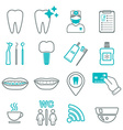 16 line of dental icons Isolated Color block vector image