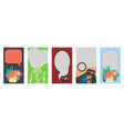 a set of templates design for social networks vector image vector image