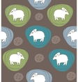 A sheep in ovals vector image