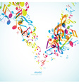 Abstract backgrounds with colorful tunes vector image vector image