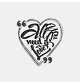 All you need is love Hand Calligraphic phrase in vector image