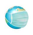 banner placard 3d realistic globe earth