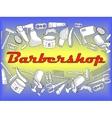 Barbershop coloring book vector image vector image