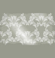baroque pattern old fabric background vector image