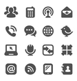 Black communication icons vector | Price: 1 Credit (USD $1)