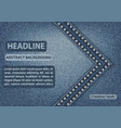 blue jeans cover vector image vector image