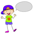 Boy talking vector image vector image