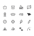 camp black icon set on white background vector image