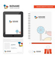 candies business logo tab app diary pvc employee vector image vector image