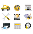 car repair icons vector image vector image