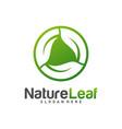 circle leaf logo design template nature logo vector image