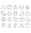 cone and pyramid shapes set vector image vector image