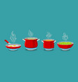cooking pot and pan vector image vector image