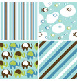 cute baby background seamless pattern vector image