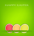 Easter card with green background vector image vector image