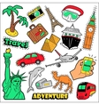 Fashion Travel Badges Patches Stickers vector image vector image