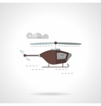 Flat color copter icon vector image