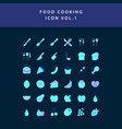 food cooking icon flat style design set vol 1 vector image vector image