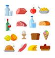 food icon set vector image vector image