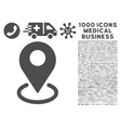 Geo Targeting Icon with 1000 Medical Business vector image vector image