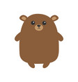 grizzly brown bear cute cartoon funny kawaii vector image