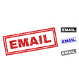grunge email scratched rectangle watermarks vector image vector image