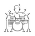 guy playing drum vector image vector image