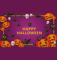 halloween greeting card or poster background vector image