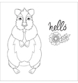 Hand drawn animal quokka doodle vector image vector image