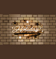 hand drawn happy holiday greeting card in brick vector image