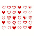 hearts red signs collection vector image vector image