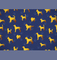 horizontal card pattern with yellow gold dogs on vector image vector image