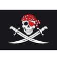 Jolly Roger pirate flag vector image vector image