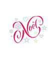 joyeux noel french merry christmas embroidery vector image