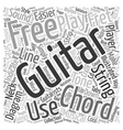 Know Your Free Guitar Chords text background vector image vector image