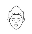 line avatar man face with haistyle design vector image vector image