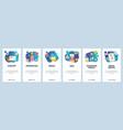mobile app onboarding screens creative idea vector image vector image