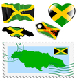 national colours of Jamaica vector image vector image