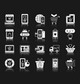 online shop white silhouette icons set vector image