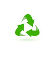 recycle icon green safe arrows emblem vector image