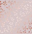 rose gold elegant decorative floral pattern vector image vector image