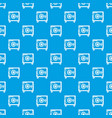 safe pattern seamless blue vector image vector image