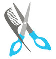 scissor and comb or color vector image