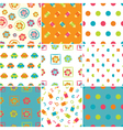 Set of baby patterns vector image vector image