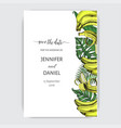 sketch invitation for wedding day hand vector image vector image