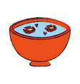 spa aromatherapy bowl vector image vector image