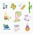 spa doodle hand drawn sketch icons set vector image