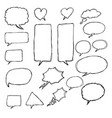 speech bubble hand drawn ink vector image